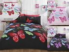 Butterflies Modern Quilt Duvet Cover & Pillowcase Bedding Bed Sets 3 Sizes New