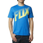 FOX RACING MOTOCROSS MX BMX DIRT ALERT SS TEE BLUE YELLOW SP15