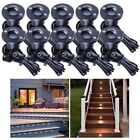 10x LED Deck Stair Light Waterproof Yard Garden Pathway Patio Landscape Lamp Opt