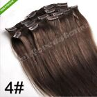 New 15*18*20*22*24*26*28* Clip In Remy Human Hair Extensions 70g 80g 100g 120g