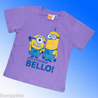 Minions T-Shirt Short Sleeve Top Despicable ME Age 4-10 Years