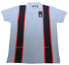 Relco 60s Style Stripe Pique Polo Shirt SKY Mod Northern Soul 100% Cotton