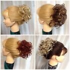 DAPHNE LG CURLY SCRUNCHIE TINY SPIRALS MIXED IN Mona Lisa BLACK RED BROWN BLONDE