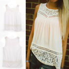 Women Loose Tank Tops Casual Summer Vest Top Sleeveless T-Shirt Lace Great