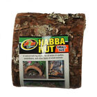 Zoo Med Habba Hut Natural Half Log Shelter available in 5 sizes