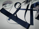 Berisford Double faced Satin Ribbon Wedding - NAVY 13 - Various Widths & Lengths