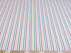 Discount Fabric Quilting Cotton Red, Green and Yellow Striped 003CT