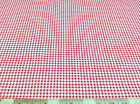 Discount Fabric Top Weight Cotton Shirting Apparel Gingham Red 022CT
