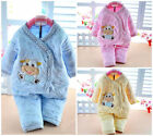 Warm Winter 2Pcs Newborn Infant Baby Girl Boy 0-6M Outfits Set Clothes Christmas