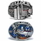 BBUM0161 WELDER WELDS EQUIPMENT TRADESMAN OCCUPATION ALLOY METAL BELT BUCKLE