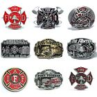BBUM0207 FIREMAN FIRE DEPARTMENT VOLUNTEER FIREFIGHTER OCCUPATION BELT BUCKLE