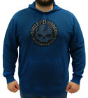 Harley-Davidson Mens Willie G Skull Shadow Wash Pullover Blue Hoodie Jacket