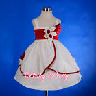 Cream Satin Formal Dress Wedding Flower Girl Christening Size 6m-3y FG223
