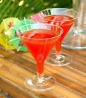 12 x 200ml LARGE CLEAR PLASTIC PARTY MARTINI COCKTAIL WINE GLASSES