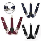 Adjustable Mens Man Unisex Suspenders Braces Women Belt 35mm NEW UK