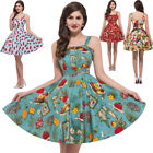 FAST Clearence~Vintage 1950s 60S Short Rockabilly Swing EVENING Party TEA Dress