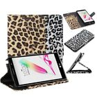 Leopard Print Wallet Folio Folding Case Cover Stand Card Slots For LG G Stylo