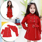 New Girls COAT Breasted Windbreaker Two colors In Three Ways Scotland Dresses