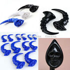 "6g-1/2"" Gothic Resin Skull Curved Talon Claw Ear Taper Plugs Expander Stretcher"