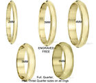 14K Yellow Gold Milgrain Wedding Band Ring 2mm 3mm 4mm 5mm 6mm Free Engraving