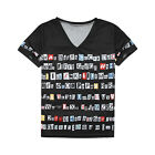 New Letter Sports Quick-drying Cycling Bike Jersey V-Neck Top T-Shirt Tee CC3104