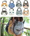 1pc Printed Muzzy Cat Face Shoulder Bag Tote Pussy Zipper Shopping Handbag New