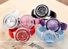 Girls Womens Bracelet Bangle Candy Color Sports Analog Quartz Wrist Watch Gift
