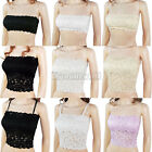 New Womens Ladies Full Lace Padded Boob Tube Top Bandeau Bra Vest