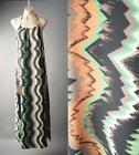 Earthy African Tribal Zig Zag Print Strappy Halter Long Maxi 150 mv Dress S M