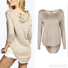 Hot Fashion Women's Casual Long Sleeve Top T-Shirt Blouse Back Hollow Lace Shirt