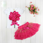"Kids Baby Girls T-shirt &TUTU Skirt Party Dress Girls Outfits & Sets ""Rose"" Set"