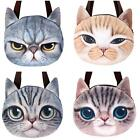 New Arrival Women's Muzzy Cat Face Zipper Shoulder Tote Pussy Shopping Han Bag