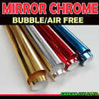 【Mirror Chrome】ALL COLOUR【0.4 Meter x 1.52M 】Vehicle Wrap Vinyl Sticker Air Free