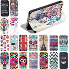 Fashion Painted Pattern Leather Flip Case Slim Cover for iPhone 4 4s 5 5g 5s 5C