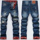 Mens' Vintage Retro Low Waist Cool Hole Jeans Denim Shorts Cowboy Pants Trousers