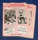 LIVERPOOL HOME PROGRAMMES 1980-1981