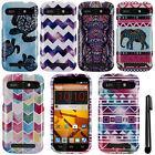 For ZTE Warp Sync N9515 Aztec Galaxy Zig Zag PATTERN HARD Case Phone Cover + Pen