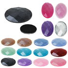 30 Oval Resin Faceted Embellishments Cameo Cabochon Scrapbooking Card Craft DIY