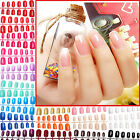 Multi-Coloured Artificial French False Acrylic Nail Art Tips Natural