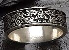 Celtic DRAGON Wedding Ring 925 SILVER Handfasting BAND Triscele Narrow