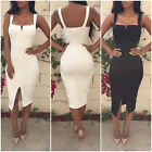 Sexy Women  Sleeveless Slim Bodycon Cocktail Party Evening Clubwear Pencil Dress