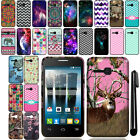 For Alcatel OneTouch Evolve 2 4037T Cute Design TPU SILICONE Case Cover + Pen
