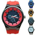 S1050 Boy Kid Men Sports PU Silicone Candy Color Analog Sports Wrist Watch MSYG