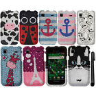 For Samsung Vibrant T959 Galaxy S DIAMOND GEM BLING HARD Case Cover Phone + Pen