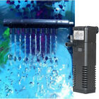 3 in1 Aquarium Internal Submersible Filter Fish Tank Filtration Pump Spray Bar