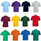 FRUIT OF THE LOOM PLAIN POLO T SHIRT MIX COLOURS ALL SIZES