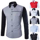Hot Sale Mens Casual Shirts Slim Fit Long Sleeve Wedding Business Dress Shirts