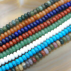 """5x8mm Natural GemStone Rondelle Spacer Loose Beads Strand 15.5"""""""