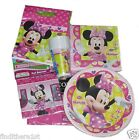 Minnie Mouse Party Bags Tableware Plates Cups Napkins Balloons Banners Pink