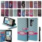 For LG Spirit H443 Escape 2 Flip Wallet LEATHER POUCH Case Phone Cover + Pen